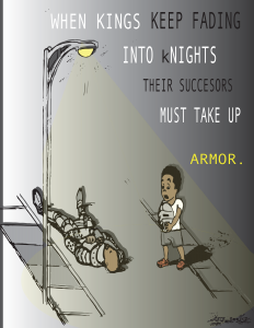 In America - Armor - a digital image by Tiffany Ike