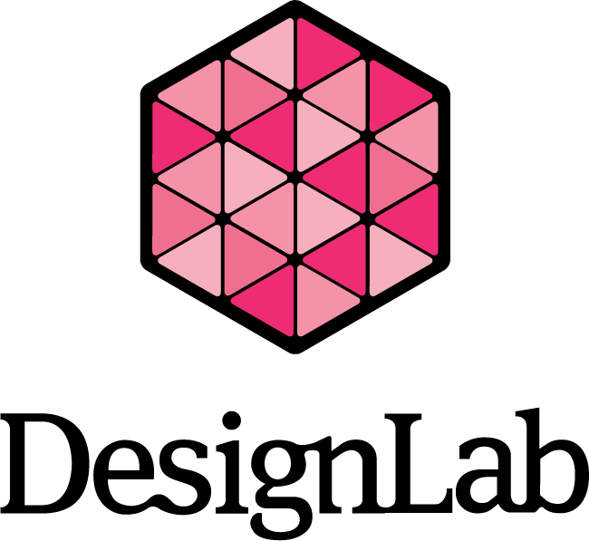 DesignLab Logo in Magenta with the DesignLab Ligature