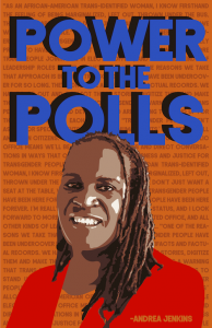 Power to the Polls - a digital image by Hattie Grimm