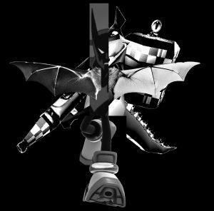 Shadow of the Bat - a digital collage by Andrew Villanueva