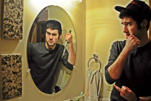 The Man in the Mirror - a digital image by Kirby Wright