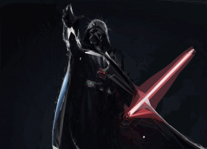 An Illustration of Darth Vader 1 - a digital illustration by Henry Erdman