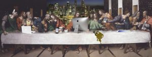 Another Version of The Last Supper - a digital collage by Liu Sitong