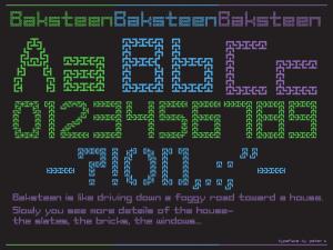 Baksteen - a font by Peter Zlebek