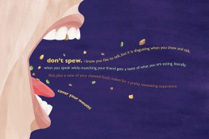 Cover Your Mouth 3 - a digital poster by Kathleen Lewis