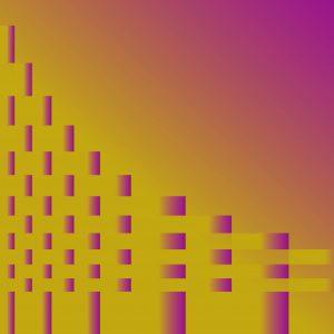 Gradient & Geometry 10 - a digital illustration by Yiting Liu