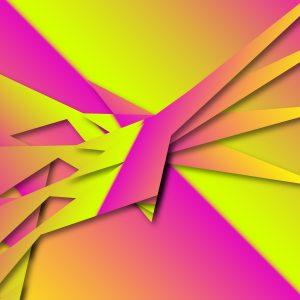 Gradient & Geometry 13 - a digital illustration by Yiting Liu