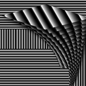 Gradient & Geometry 14 - a digital illustration by Yiting Liu