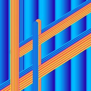 Gradient & Geometry 15 - a digital illustration by Yiting Liu