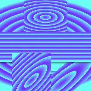 Gradient & Geometry 16 - a digital illustration by Yiting Liu