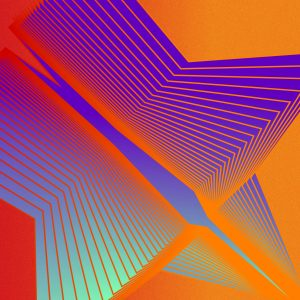 Gradient & Geometry 3 - a digital illustration by Yiting Liu