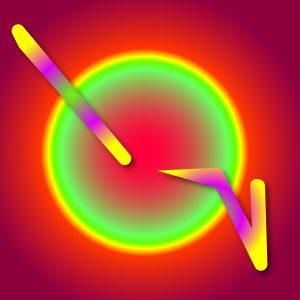 Gradient & Geometry 7 - a digital illustration by Yiting Liu