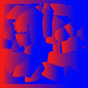 Gradient & Geometry 8 - a digital illustration by Yiting Liu