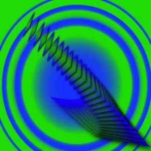 Gradient & Geometry 9 - a digital illustration by Yiting Liu