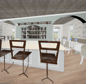 L'Ecole Bistro 1 - an interior design by Stephanie Coffaro