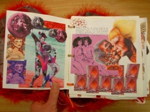 Lady in Red 3 - a photo of a graphic essay by Katie Schaag