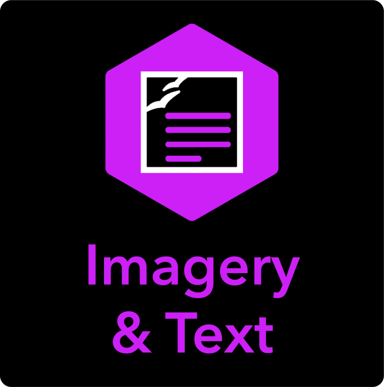 Imagery & Text Icon