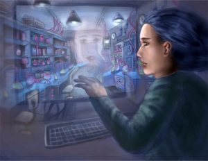 Into the Virtual Lab - a digital image by Jingyu Zhang