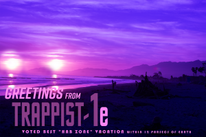 Trappist - a digital postcard by Chris Rudolph