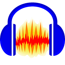 Audacity Logo. Link takes you to download Audacity