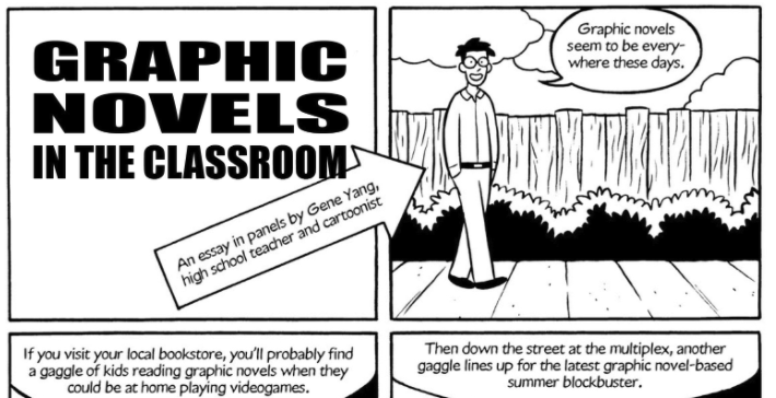 Screenshot of Graphic Novels in the Classroom