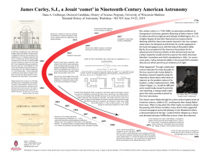 A research poster featuring a large red arc