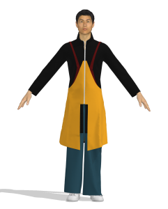 digital illustration of a person wearing a long coat