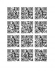 12 QR codes