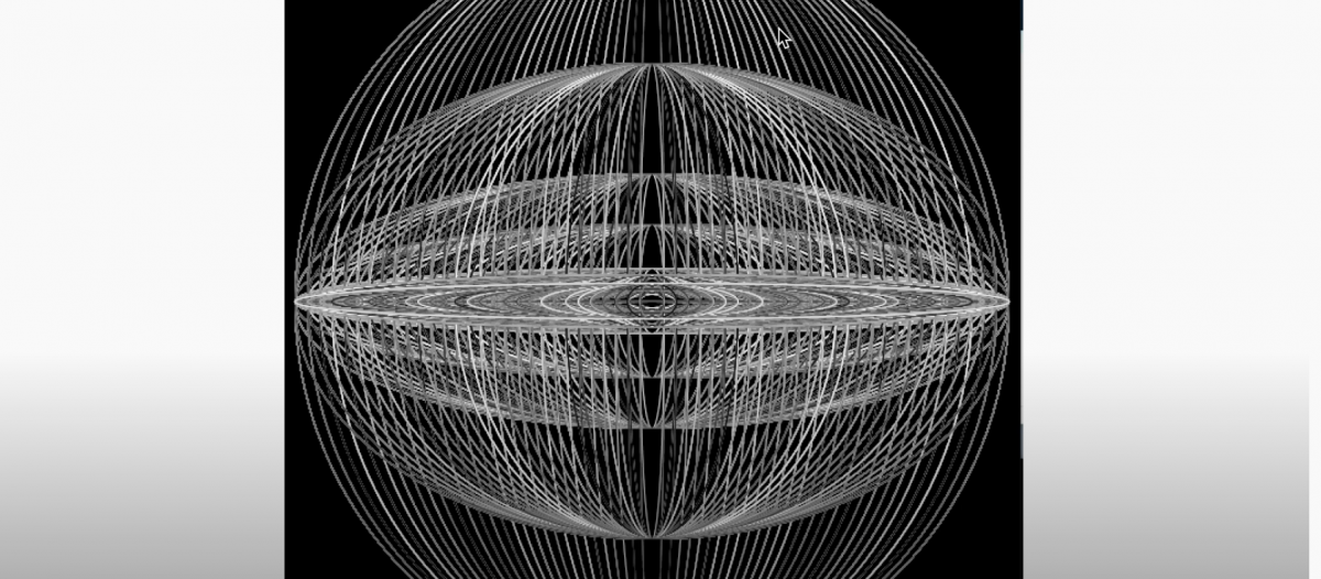 A spherical data visualization of sound