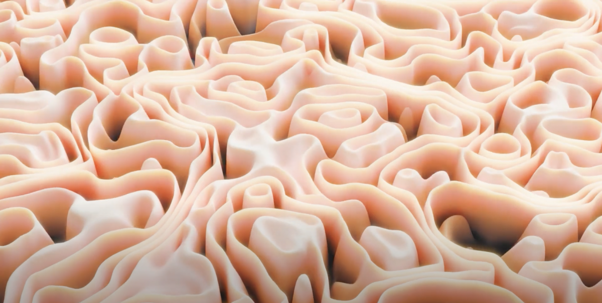 an abstract, 3d wavy image